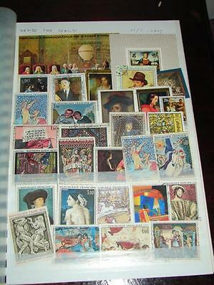 (J344)   Stock Book Art On Stamps  World Wide Mix Worth A Look