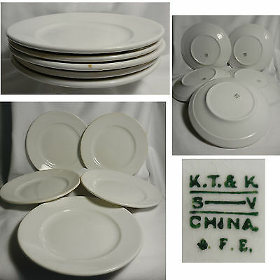 "Lot of 5 K T & K 9"" Plates Ironstone Restaurantware Knowles Taylor & Knowles"
