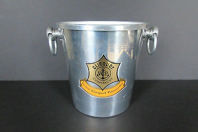 Vintage French Veuve Clicquot Champagne Ice Bucket Chiller Cooler Made in France