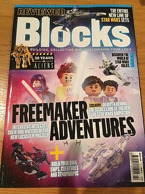 BLOCKS Mag Issue 22 Lego Building Aug 2016 Star Wars Death Star Aliens Special
