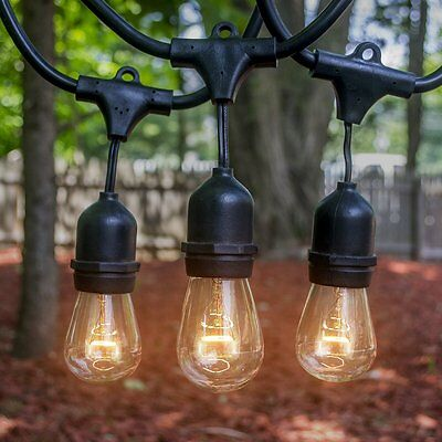 LED Concepts® Outdoor & Indoor Edison Style String Lights - Commercial Grade -