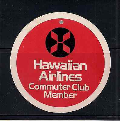Hawaiian Airlines luggage label poster stamp Tag Commuter member Club