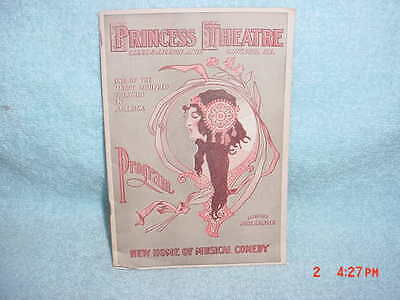 1910 Princess Theatre, Chicago Program - Miss Nobody From Starland - L.comer & N