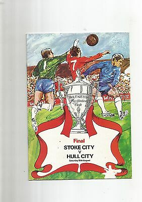 Watney Cup Final Hull City v Stoke City 18th August 1973