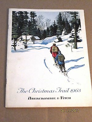 '63 ABERCROMBIE & FITCH vintage catalog~the Christmas Trail~clothing,accessories