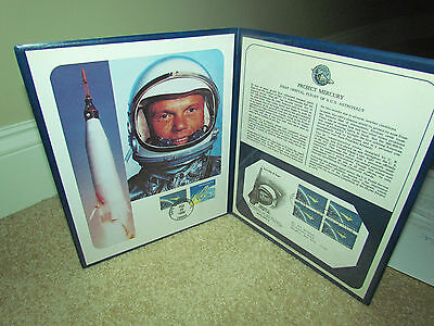Project Mercury Folio John Glenn First Day Cover Space Flight 1962 Cape Canaverl