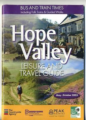 Hope Valley Derbyshire Travel Guide Bus and Train  2003