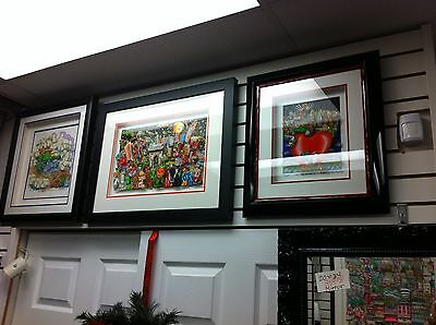"""Charles Fazzino """"Ghosts, Good Times & Gridlock """" 3-D Art Signed & Number Framed"""