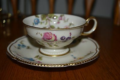 Castleton China Sunnyvale Pattern Gild Gilt Demitasse and saucer - 6 avail