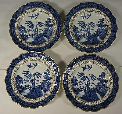 Booth's Real Old Willow - Four Saucers * A8025 * Single Owner