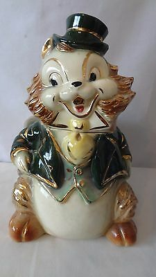 Brush McCoy Pottery 1950'S W15 Squirrel Cookie Jar With A lot Of Gold Trim #H918