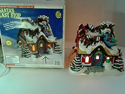 """RARE ACCENTS UNLIMITED WEE CRAFTS """"SANTAS LAST STOP"""" WITH LIGHT -  Completed!"""
