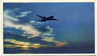 United Air Lines - Douglas Dc-6 - Airline Issue Postcard