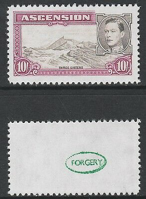 Ascension (876) 1938 KG6 10s -  a Maryland FORGERY unused