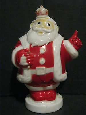 Vintage - Hard Plastic - Santa Claus - Figure - Bank