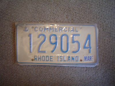 Rhode Island Cmmcl      License Plate    Buy All States Here