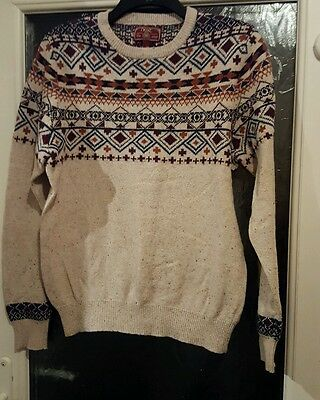 Mens Next fairisle jumper size M stunning