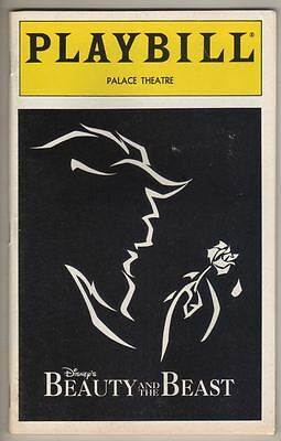 """""""Beauty and the Beast""""   Playbill   1996   Jeff McCarthy & Christianne Tisdale"""