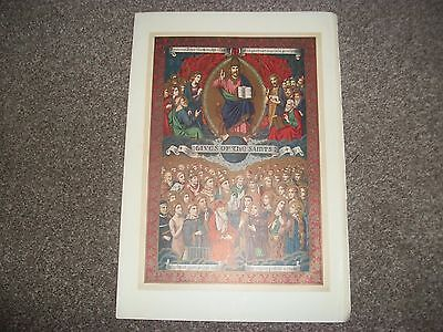 """LIVES OF THE SAINTS   RELIGIOUS PRINT Taken from old book  7""""x10"""""""