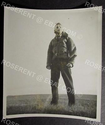 "WW2 Fleet Air Arm Pilot - "" Tommy "" in Flying Jacket  - 11.5cm by 10.5cm"