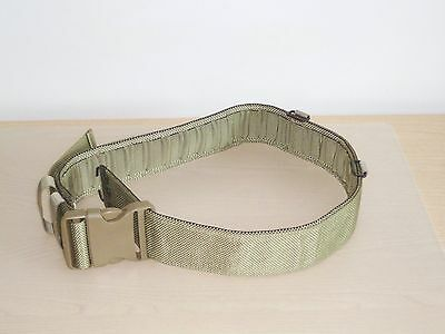 British Army-Issue Light-Olive IRR Webbing Waist Belt. New. Small.