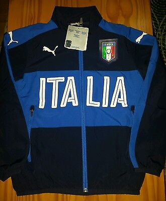 Italy Track Jacket - Official Puma Boys Football Training Wear -size 7-8  years