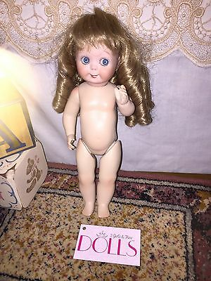 """Age unknown porcelain reproduction JDK 221 Googly doll, 10.5"""""""