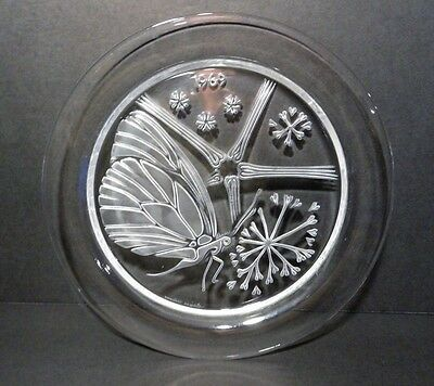 "Lalique 1969 Annual Plate ""Papillon"" (Butterfly)"