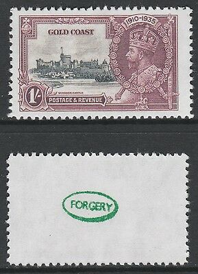 Gold Coast (881) 1935 KG5 Silver Jubilee 1s -  a Maryland FORGERY unused