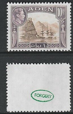 Aden (882) 1939 KG6 Capture of Aden 10s -  a Maryland FORGERY unused