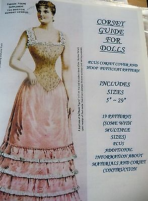 """Corset Guide For Dolls ~ Includes Sizes 5"""" - 29"""" ~ 19 Victorian Era Patterns"""