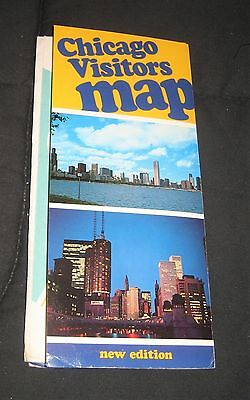 Vintage 1970s Chicago O'Hare, Streets & Expressway Visitors Map--Illinois