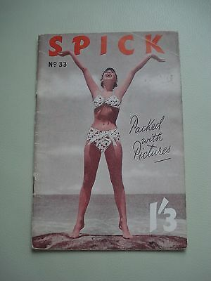 Spick 33 (Vol 3) August 1956  Vintage British Pin Up magazine ADULTS ONLY