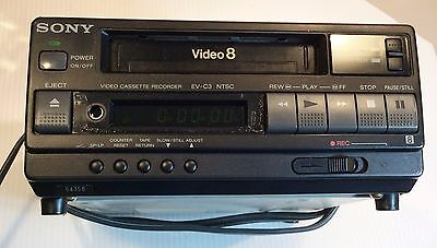 Sony EV-C3 Video 8 Video Cassette Recorder for repair or parts Powers Up NTSC