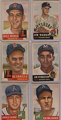 Topps 1953 Baseball Cards-Select from a list