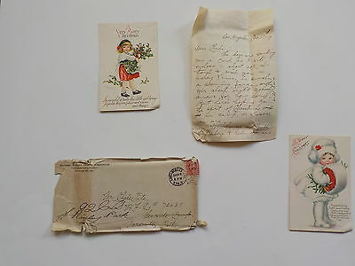 WW1 Letter 1917 Royal Canadian Air Force Christmas Postcards WWI Toronto Canada