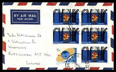 1970 Airmail Cover Nottingham England Flowers Issue 30 Rate