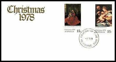 1978 Melbourne Australia Christmas First Aid Cover With Cachet