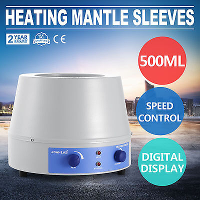 500Ml Heating Mantle Sleeves Thermostatic Temperature Regulation Instant Heating