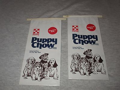 PURINA PUPPY CHOW-SET OF VINTAGE 1980s ERA UNUSED COURTESY BAGS