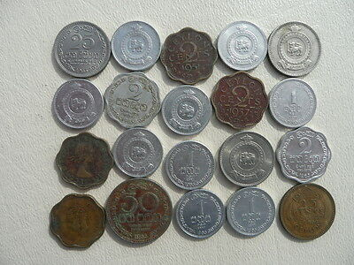 Lot of 20 Sri Lanka Ceylon Coins