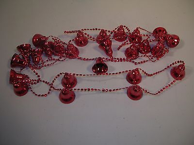 Vintage Christmas Decoration Red Bell Garland
