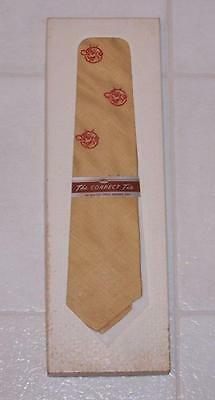 Vintage Reddy Kilowatt Tie - Yellow/Gold with Red - New in Box