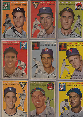 Topps 1954 Baseball Cards-Select from a list