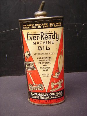 Vintage Ever-Ready  Machine Oil Tin Can