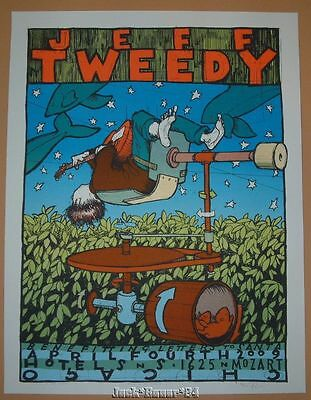 Jay Ryan Jeff Tweedy Chicago Poster Print Art Signed Numbered 2009 Wilco
