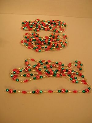 Vintage Christmas Decoration Plastic Beaded Garland