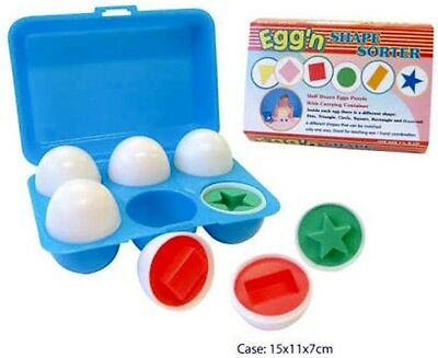 New Eggs Learn Colour Shape Sorter Pretend Play Food Kids Gift Educational Toy