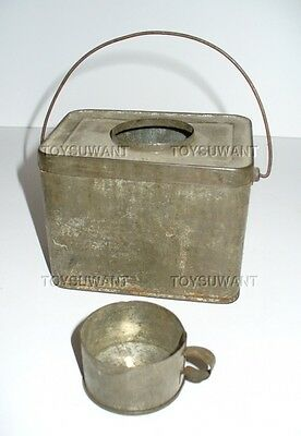 Antique Miniature Lunch Pail Salesman Sample Tin Cup Box Miner Dinner Bucket Old