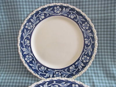 "Set of 6~ELYSIAN Bread Plates 6"" Blue Floral Transfer~Grindley England 1936-54"